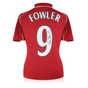 Robbie Fowler Signed Liverpool 2001 Jersey. Number 9