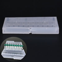1X drill bit storage case stand  hard plastic organizer 10pcs hole tool LB