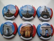 Série de  6 capsules de champagne générique  Paris n° 945 à 945e