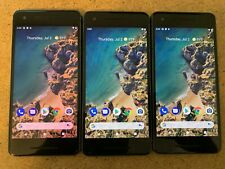 Lot of 3 Google Pixel 2 - 64Gb - Just Black (Unlocked) Smartphone. Please Read!