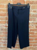 NEXT WOMENS NAVY TAILOR CULOTTE TROUSERS CROPPED  SIZE: 6  BNWT RRP £22