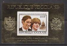 1981 Royal Wedding Charles & Diana MNH Stamp Sheet Togo Imperf