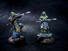 Wyrd, Malifaux, Katanaka Snipers. Painted. W/stat cards.