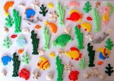 under the sea, dolphin,tropical fish, sharks Birthday loose cake decorations,