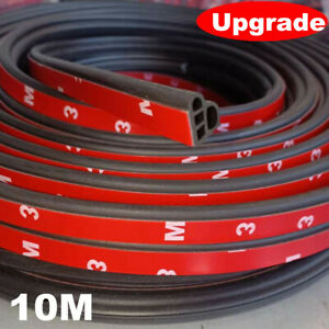 10m L Shape Double Layer  Door Rubber Seal Weather Strip Hollow Car Motor Hood