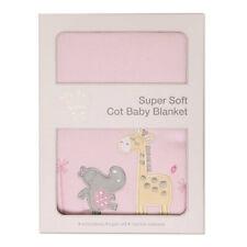 2x My Baby Tropicana Blanket Wrap Cotton Super Soft Cot Bag Babies/infant Pink