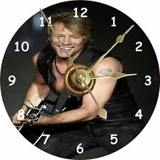 More details for jon bon jovi cd clock printed directly on a cd disc silent non ticking + stand