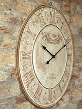 EXTRA LARGE 60cm VINTAGE STYLE WALL CLOCK SHABBY CHIC KENSINGTON STATION CLOCK