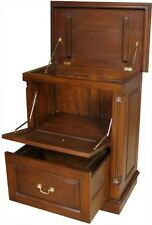 Solid Mahogany Printer Filing Cabinet / Chest H80 x W66 x D41 cm CHT071