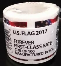 USPS US Flag 2017 Forever Stamps -4 Roll s of 100 each $189