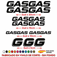 KIT PACK PEGATINAS STICKER VINILO GASGAS MOTO VINYL AUFKLEBER GAS GAS DECAL