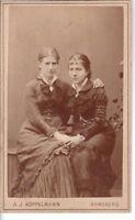 CDV Foto Feine Damen - Arnsberg 1880er