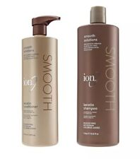 Ion Keratin Smooth Solutions Shampoo and Conditioner Duo Set 33.8/20 oz NEW