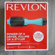 Revlon One-Step Hair Dryer & Volumizer Hot Air Brush - Pink / Mint - NO BOX
