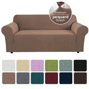 UK Sofa Covers Easy Fit Stretch Protector Soft Couch Cover Thick Jacquard Fabic
