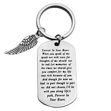 Memorial Keyring for in Memory of Husband/Wife Gifts Sympathy Keychain Loss o...
