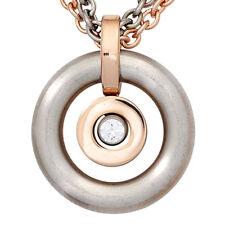 Modeschmuck-Halsketten & -Anhänger im Collier-Stil aus Edelstahl mit Kristall