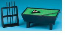 Dollhouse Miniatures 1:12 Scale Pool Table Set/24, Black Item #CLA91322
