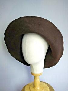 2 Stück Hutstumpen Wolle Filz Stumpen Wolle marine und blau meliert