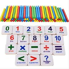 Kid Baby Early Learning Educational Toy Magnet Wooden Numbers Sticks Mathematics