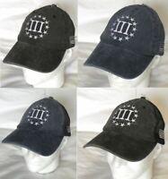BUSEOTR Three Percenter 1776 Baseball Caps Adjustable Back Strap Flat Hat