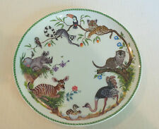 "WHIMSICAL LYNN CHASE ""JUNGLE PARTY"" 10.5"" DINNER PLATE"