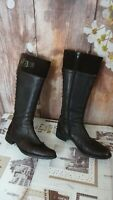 remonte brown long leg ladies genuine leather boots size 41eu/7uk di