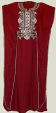 WOMENS MEDIUM / LARGE VISCOSE MAROON CAFTAN CASUAL KAFTAN SUN DRESS # 07