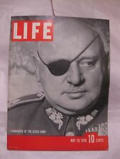Life Magazine May 30th 1938 Commander Of The Czech Army Published By Time   mg62