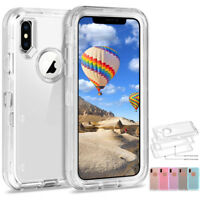 360° Shockproof Heavy Duty Clear Crystal Case Cover For iPhone Xs Max 6 7 8 Plus