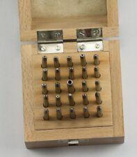 Empilement poinçons punch x25 boxed horlogers watch repair tool jeu Anvil Set
