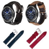 Genuine Leather Watch Band Strap For Samsung Galaxy Gear S3 Frontier/Classic