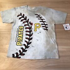 PITTSBURGH PIRATES Liquid Blue Graphic Shirt  Boys Medium Baseball MLB LOGO NWT