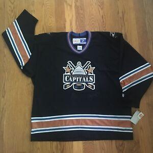 NWT Washington Capitals Vintage CCM NHL Jersey 2XL Signed 90s 2000s VNTG Retro