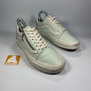 Vans Old Skool Mint White Size 3 UK 35 EUR