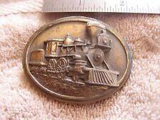Vintage Belt Buckle Train Bergamot 1984