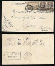 CANADA 1934 AIRMAIL NANAIMO BRITISH COLUMBIA to HOLLAND AVION MACHINE POSTMARK