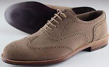 NWB ISAIA WING TIP shoes francesina suede beige blake eu 43,5 us 10.5 uk 9.5