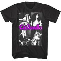 Cinderella Rock Band Photo Collage Men's T Shirt 80's Glam Album Concert Merch