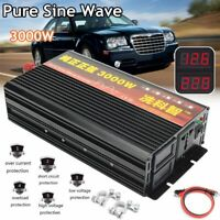 3000W / 6000W MAX Pure Sine Wave Car Power Inverter DC 24V to AC 230V Camping