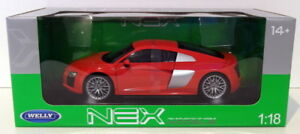Welly 1/18 Scale Diecast 18052W - Audi R8 V10 - Red
