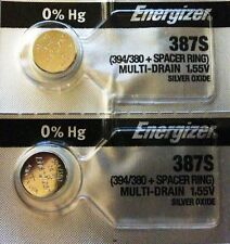 ENERGIZER 387S 394/380 + Spacer Ring (2piece) New Battery Authorized Seller