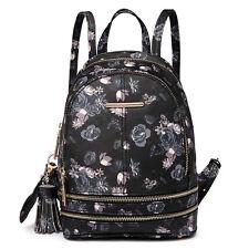 Ladies Girls PU Leather/Oilcloth Skull Backpack School Travel Shoulder Bag
