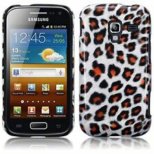 For Samsung Galaxy Ace 2 i8160 Slim Leopard PU Leather Hard Back Case Cover