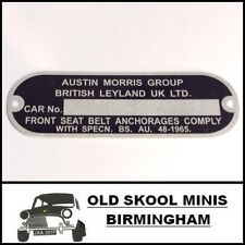 CLASSIC MINI CHASSIS PLATE AUSTIN MORRIS LEYLAND ROVER COOPER BMC VAN BL MG 5F3