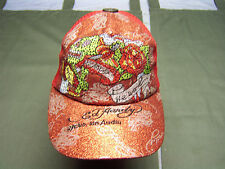 Vintage Tattoo Wear DON ED HARDY Cap with metal button on top D.E.H initials