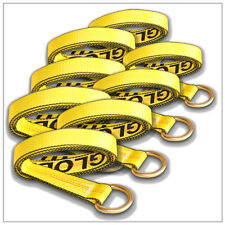 Eight Car Hauler Tie Down Auto Tow Straps Rugged DOT Y