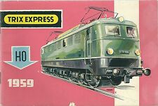 Catalogue Trix Express HO 1959 Eisenbahn Chemin de fer train Katalog rare