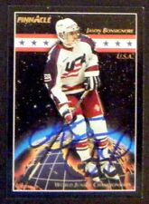 Jason Bonsignore Edmonton Oilers 1993-94 Pinnacle Signed Card