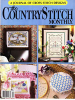 The Country Stitch Magazines March 1989 Flower Market - Country Breakfast